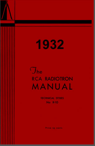 1932 Tube Data Sheet Manual