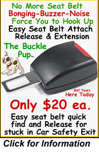 Seat Belt Buckle Pup Ad
